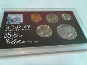 1980   SPECIAL 35 YEAR US MINT COIN COLLECTION SEALED CASE   5 COINS