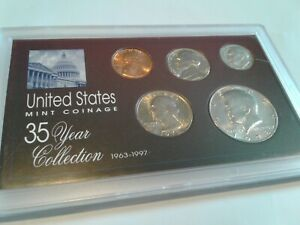 1978   SPECIAL 35 YEAR US MINT COIN COLLECTION SEALED CASE   5 COINS