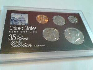 1986   SPECIAL 35 YEAR US MINT COIN COLLECTION SEALED CASE   5 COINS