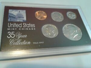 1985   SPECIAL 35 YEAR US MINT COIN COLLECTION SEALED CASE   5 COINS