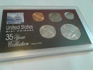 1993   SPECIAL 35 YEAR US MINT COIN COLLECTION SEALED CASE   5 COINS