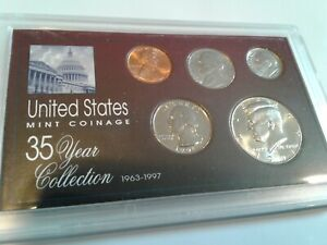 1991   SPECIAL 35 YEAR US MINT COIN COLLECTION SEALED CASE   5 COINS
