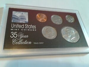 1992   SPECIAL 35 YEAR US MINT COIN COLLECTION SEALED CASE   5 COINS