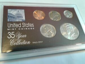 1994   SPECIAL 35 YEAR US MINT COIN COLLECTION SEALED CASE   5 COINS