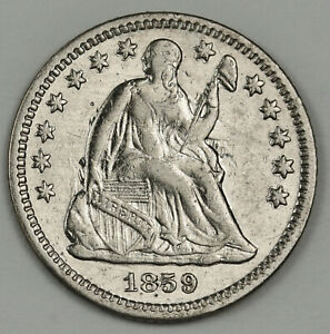 1859 O LIBERTY SEATED DIME.  CLASHED DIE OBVERSE.  X.F.  140010