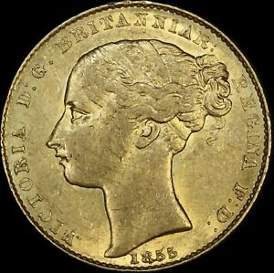 Click now to see the BUY IT NOW Price! 1855 SYDNEY MINT TYPE I SOVEREIGN GOOD EF  PCGS AU 55