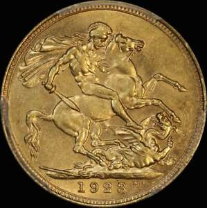Click now to see the BUY IT NOW Price! 1923 SYDNEY GEORGE V LARGE HEAD SOVEREIGN UNC  PCGS MS61