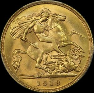 Click now to see the BUY IT NOW Price! 1918 PERTH GEORGE V HALF SOVEREIGN CHOICE UNC  PCGS MS64