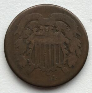 1864 2 CENT PIECE CIRCULATED CCC287