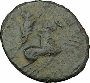 SAINT CONSTANTINE I THE GREAT IN CHARIOT TO GOD HAND IN HEAVEN ROMAN COIN I37865