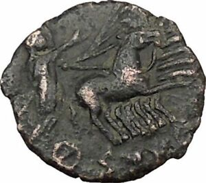 SAINT CONSTANTINE I THE GREAT IN CHARIOT TO GOD HAND IN HEAVEN ROMAN COIN I37874