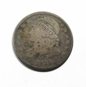 1835 CAPPED BUST SILVER DIME.