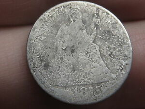 1875 P SEATED LIBERTY SILVER DIME