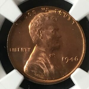 1946 1C RD LINCOLN WHEAT ONE CENT  NGC MS66 RD                  4839747 004