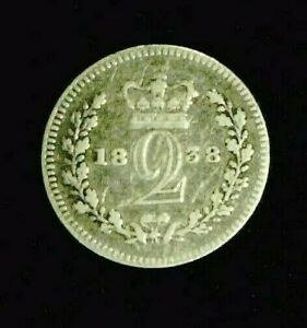 1828 GREAT BRITAIN MAUNDY SILVER 2 PENCE     8162