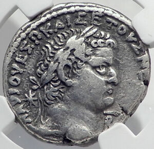 Click now to see the BUY IT NOW Price! VESPASIAN & TITUS 69AD SILVER ANTIOCH TETRADRACHM ANCIENT ROMAN COIN NGC I80929