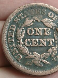 1853 BRAIDED HAIR LARGE CENT PENNY  FINE DETAILS