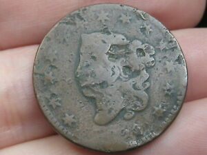 1820 MATRON HEAD LARGE CENT PENNY  SMALL DATE