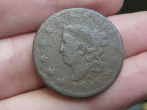 1816 MATRON HEAD LARGE CENT PENNY VG OBVERSE DETAILS