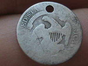 1835 CAPPED BUST HALF DIME  90  SILVER  SMALL DATE