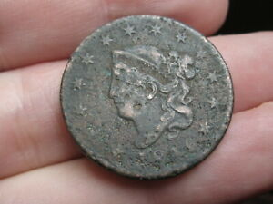 1816 MATRON HEAD LARGE CENT PENNY FINE/VF DETAILS
