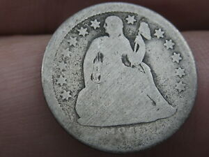 1840 SEATED LIBERTY SILVER DIME  WITH DRAPERY