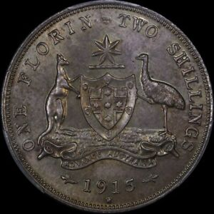 Click now to see the BUY IT NOW Price! AUSTRALIA 1915 HEATON PROOF FLORIN PCGS PR66 EX PARKHILL COLLECTION