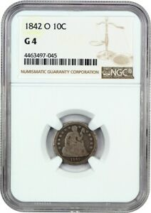1842 O 10C NGC GOOD 04   LIBERTY SEATED DIME