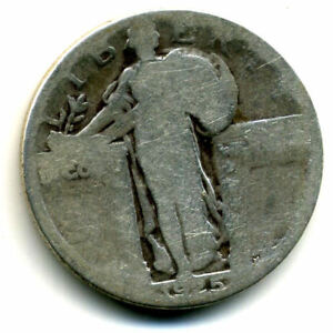1925 P STANDING LIBERTY QUARTER DOLLAR 1925P 90  SILVER 25 CENT COIN US 104552