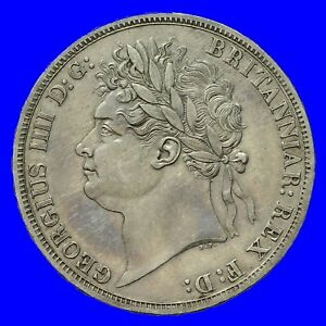 GEORGE IV SILVER CROWN 1821 SECUNDO  S3805