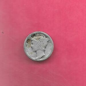 US MERCURY SILVER DIME 1927 P  GOOD NICE OLD ANTIQUE 10 CENTS COIN