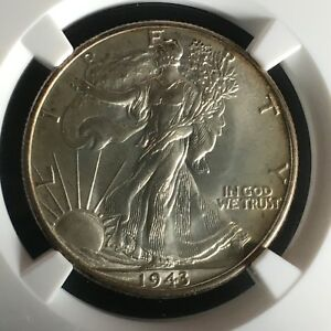 Click now to see the BUY IT NOW Price! 1943 50C LIBERTY WALKING HALF DOLLAR NGC MS68    2671831 002C