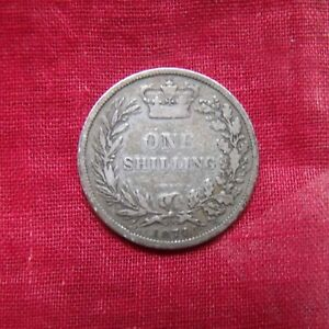 1874 VICTORIA SILVER SHILLING  YOUNG HEAD COIN GOOD CLEAR CONDITION