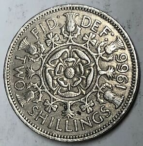 C260     GREAT BRITAIN     COIN     FLORIN    1966