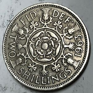 C264    GREAT BRITAIN     COIN     FLORIN    1963