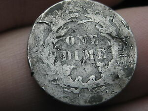 1887 P SEATED LIBERTY SILVER DIME