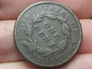 1823 OR 1833 MATRON HEAD LARGE CENT PENNY  ROTATED REVERSE MINT ERROR
