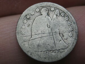 1853 O SEATED LIBERTY HALF DIME  WITH ARROWS