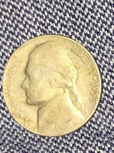 1953 S JEFFERSON NICKEL CIRCULATED NICE MINTAGE OF ONLY 19 MIL FREE SHIP