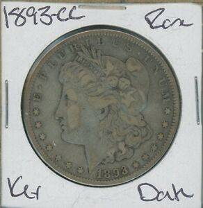 1893 CC MORGAN DOLLAR $1 US MINT  KEY DATE SILVER COIN 1893 CC