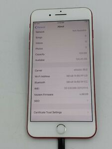 IPHONE 7 PLUS A1784 128GB   PRODUCT  RED   PHYSICALLY OK  AS IS  FOR REPAIR ONLY