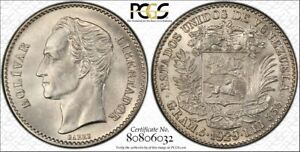Click now to see the BUY IT NOW Price! VENEZUELA 1 BOLIVAR 1929  P  MS63 PCGS SILVER Y22 BLAST FROSTY WHITE