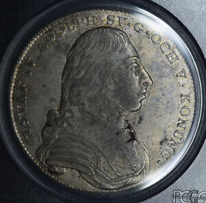 Click now to see the BUY IT NOW Price! SWEDEN 1 RIKSDALER 1807 OL AU55 PCGS SILVER KM561 1R   KEY DATE