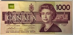 1988   BANK OF CANADA ONE THOUSAND DOLLAR   EF CONDITION