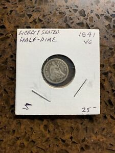1841 LIBERTY SEATED HALF DIME. EXTENDED CYBER SALE