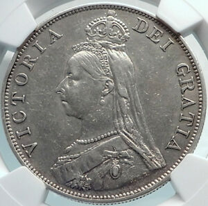 Click now to see the BUY IT NOW Price! 1889  GREAT BRITAIN UK QUEEN VICTORIA SILVER DOUBLE FLORIN COIN NGC I81897