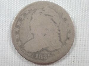 1835 DIME CAPPED BUST SILVER 10C US COIN