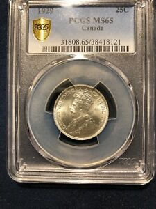 Click now to see the BUY IT NOW Price! CANADA 1929 25 CENTS PCGS MS65