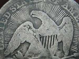 1853 SILVER SEATED LIBERTY QUARTER  ARROWS AND RAYS