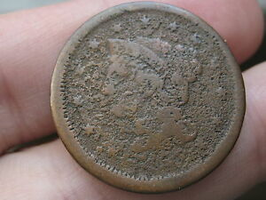 1853 BRAIDED HAIR LARGE CENT PENNY METAL DETECTOR FIND?